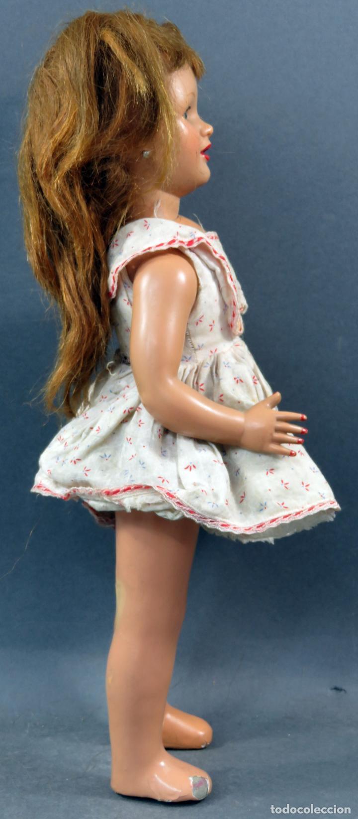 Muñeca española clasica: Muñeca celuloide ojo durmiente peluca vestido original años 50 38 cm - Foto 7 - 151117238