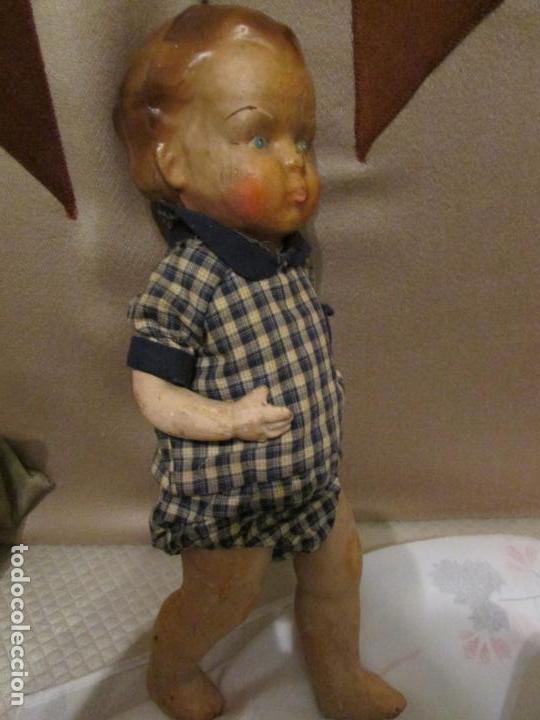 Muñeca española clasica: ANTIGUO MUÑECO CARTON PIEDRA JUANIN? ,ARTURITO? - Foto 2 - 151169390
