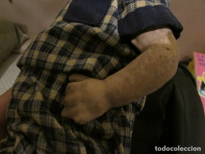 Muñeca española clasica: ANTIGUO MUÑECO CARTON PIEDRA JUANIN? ,ARTURITO? - Foto 3 - 151169390