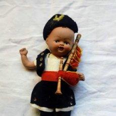 Muñeca española clasica: MUÑECO ASTURIANO AÑOS 30/50 EN TERRACOTA. Lote 151323462