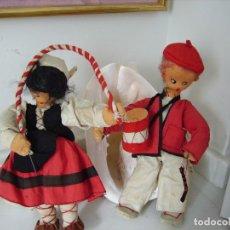 Muñeca española clasica: ANTIGUA PAREJA DE VASCOS. AÑOS 40. Lote 151505214