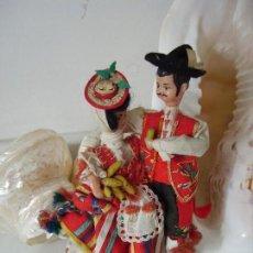 Muñeca española clasica: ANTIGUA PAREJA CANARIA . Lote 151512342