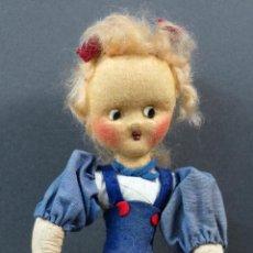 Muñeca española clasica: MUÑECA TRAPO CREACIONES GALIA AÑOS 50 NUEVA CON ETIQUETA 28 CM. Lote 151958970