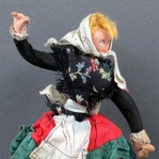 Muñeca española clasica: MUÑECA TRAPO FIELTRO REGIONAL BAILE ROLDÁN KUMPLE LAYNA AÑOS 50 28 CM. Lote 151975530