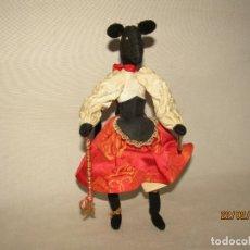 Muñeca española clasica: ¡LALA LALARITA BARRO MI CASITA! RATITA PRESUMIDA DE TELA Y ALAMBRE MODELABLE POSICIONABLE. Lote 152474170