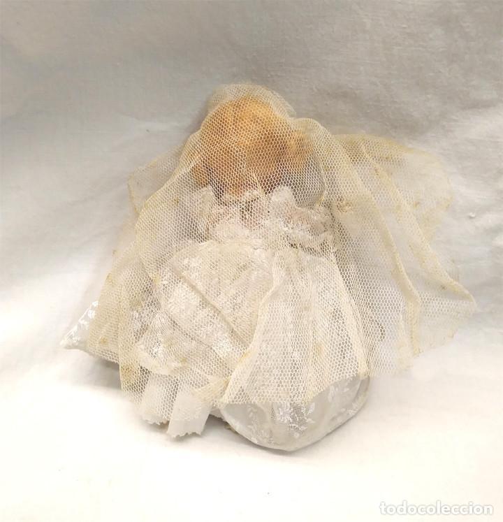 Muñeca española clasica: Muñeca Doll Poupee Primera Comunión terracota años 40, buen estado. Med. 12 cm - Foto 2 - 153289174