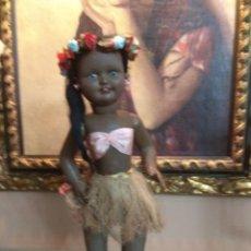 Muñeca española clasica: PRECIOSA MUÑECA NEGRITA VIBEVI AÑOS 50 SELLADA EN LA NUCA ORIGINAL. Lote 153477354