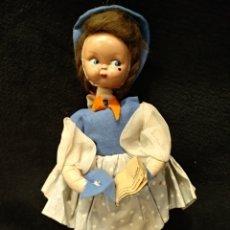 Muñeca española clasica: MUÑECA DE TRAPO Y CARA DE CELULOIDE O PLÁSTICO DURO. 26CM. Lote 153859549