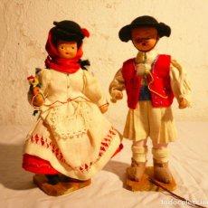 Klassische spanische Puppen - PAREJA MUÑECOS DE TERRACOTA AÑOS 40. CANARIOS - 154714630