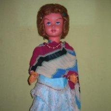 Muñeca española clasica: MUY ANTIGUA Y GRAN MUÑECA DE LOS AÑOS 50 DE 66 CMS. DE ALTURA - SE DESCONOCE EL MODELO -. Lote 156658690