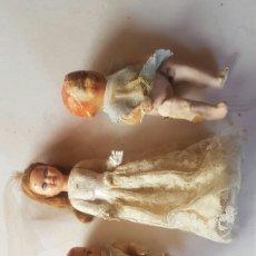 Muñeca española clasica: LOTE BEBES ANTIGUOS Y MUÑECA TARTA. Lote 156824816