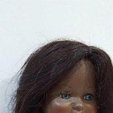 Muñeca española clasica: MUÑECA ANTIGUA ESPAÑOLA CARTÓN PIEDRA LORETÍN DE FAMOSA DIANA NEGRITA HAWAIANA DE ORIGEN. Lote 156916566