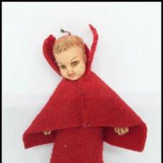 Muñeca española clasica: PEQUEÑA MUÑECA ANTIGUA CAPERUCITA ROJA. Lote 157672282
