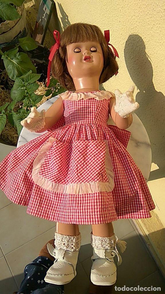 Muñeca española clasica: ANTIGUA MUÑECA DE FLORIDO CARTON PIEDRA - Foto 2 - 157837786