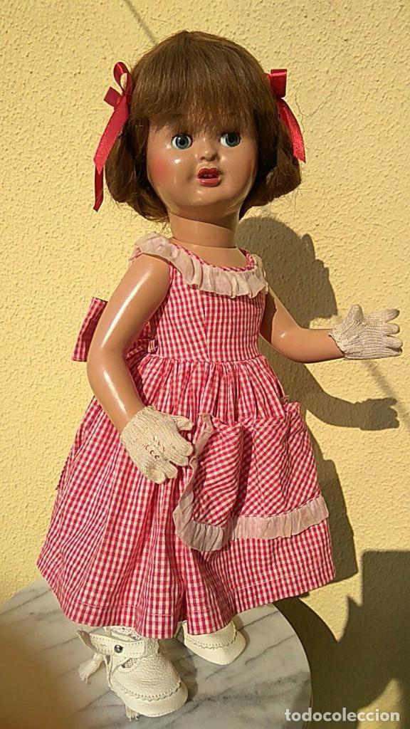 Muñeca española clasica: ANTIGUA MUÑECA DE FLORIDO CARTON PIEDRA - Foto 3 - 157837786