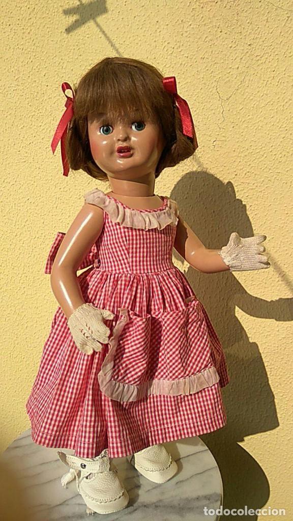 Muñeca española clasica: ANTIGUA MUÑECA DE FLORIDO CARTON PIEDRA - Foto 4 - 157837786