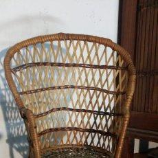 Muñeca española clasica: SILLÒN MIMBRE PARA MUÑECA. Lote 158960922