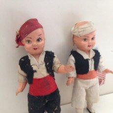 Muñeca española clasica: ANTIGUAS MUÑECAS MUÑECOS REGIONALES ORIGINALES AÑOS 50. Lote 158992308