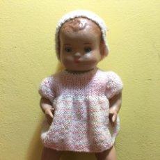 Muñeca española clasica: ANTIGUO MUÑECO BEBÉ EN CARTÓN PIEDRA. ÉPOCA JUANIN PEREZ.. Lote 159319209