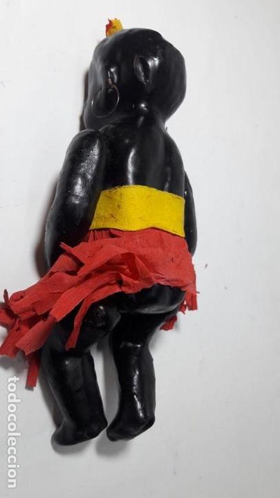 Muñeca española clasica: Antigua muñeca negra negrita española de cartón 22 cmts totalmente original - Foto 4 - 160342674