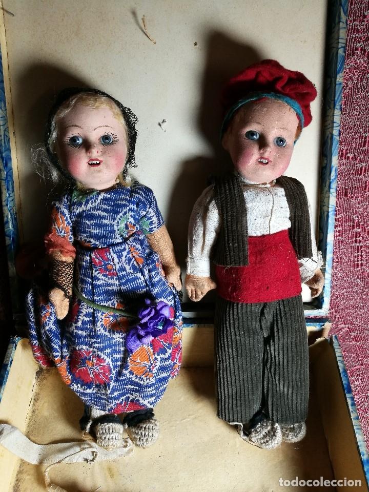 Muñeca española clasica: Pareja de catalanes..muñeco y muñeca de trapo. Pages, Lenci, Lency c. 1920-40 cataluña -ojos cristal - Foto 2 - 160702362
