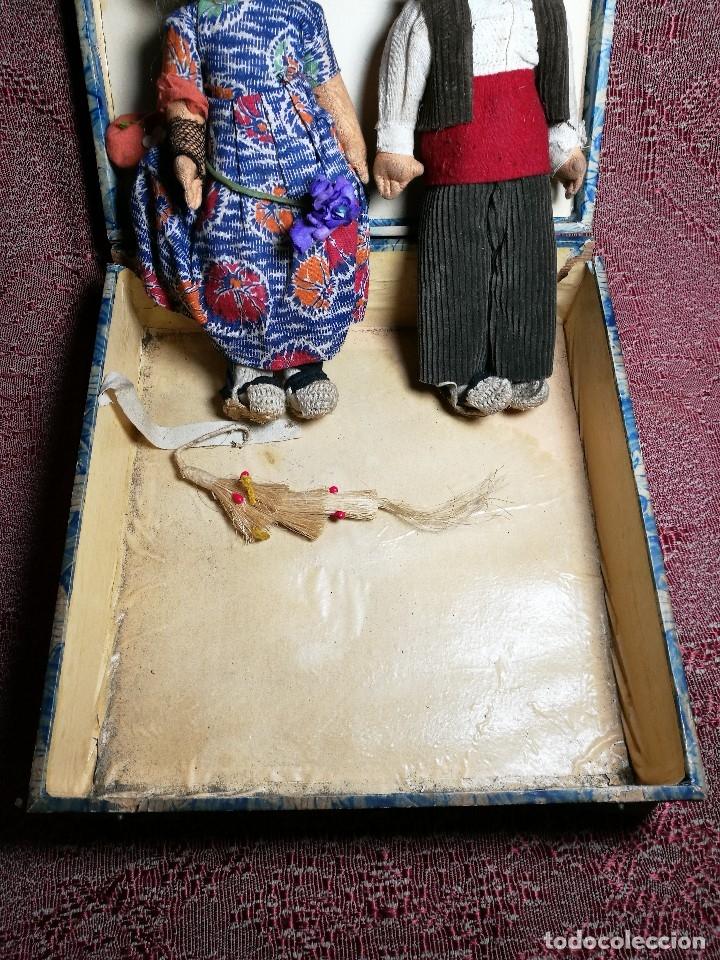 Muñeca española clasica: Pareja de catalanes..muñeco y muñeca de trapo. Pages, Lenci, Lency c. 1920-40 cataluña -ojos cristal - Foto 6 - 160702362