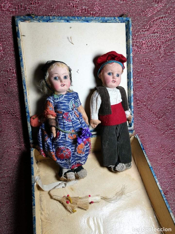 Muñeca española clasica: Pareja de catalanes..muñeco y muñeca de trapo. Pages, Lenci, Lency c. 1920-40 cataluña -ojos cristal - Foto 7 - 160702362