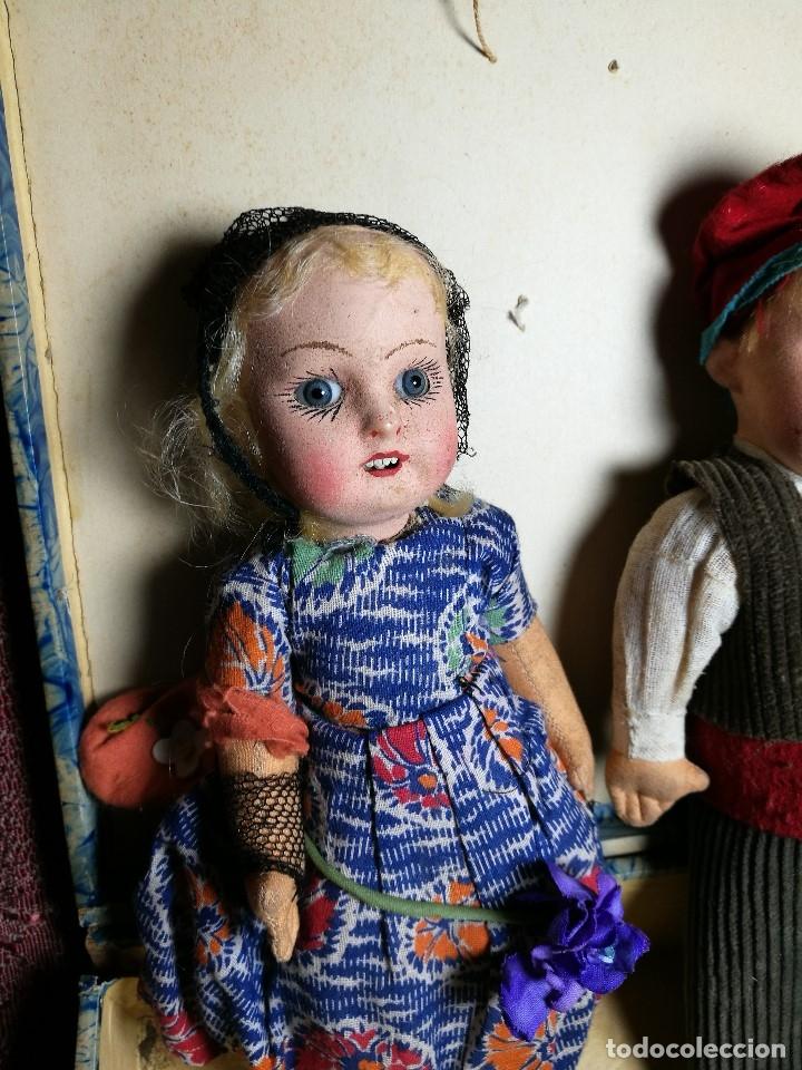 Muñeca española clasica: Pareja de catalanes..muñeco y muñeca de trapo. Pages, Lenci, Lency c. 1920-40 cataluña -ojos cristal - Foto 8 - 160702362