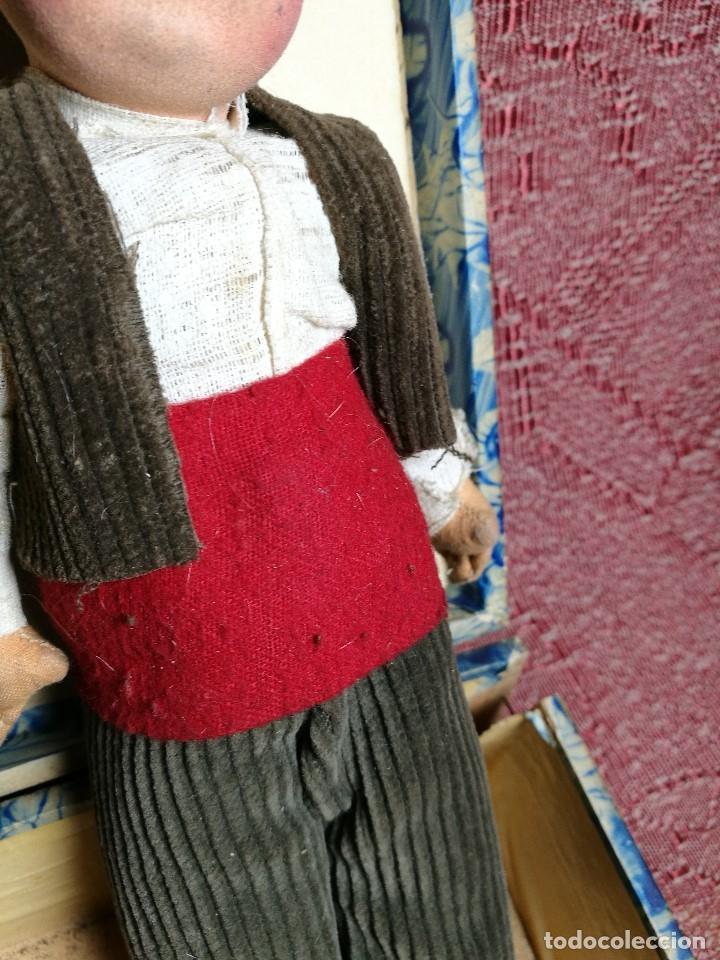 Muñeca española clasica: Pareja de catalanes..muñeco y muñeca de trapo. Pages, Lenci, Lency c. 1920-40 cataluña -ojos cristal - Foto 11 - 160702362