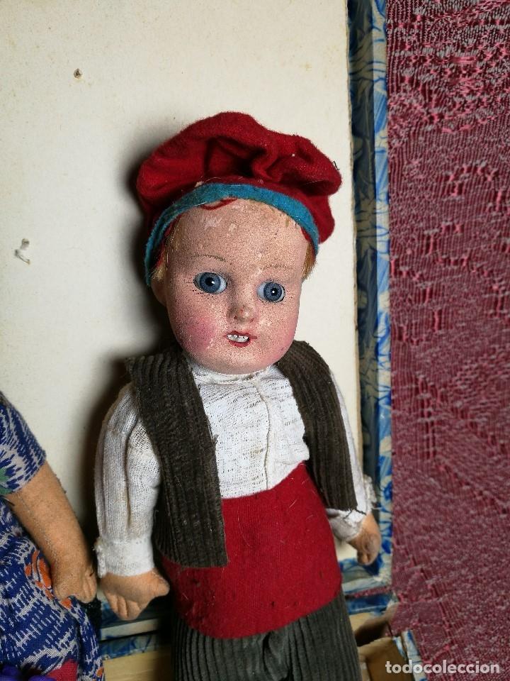 Muñeca española clasica: Pareja de catalanes..muñeco y muñeca de trapo. Pages, Lenci, Lency c. 1920-40 cataluña -ojos cristal - Foto 9 - 160702362