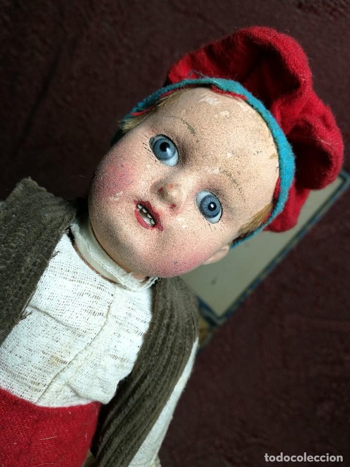 Muñeca española clasica: Pareja de catalanes..muñeco y muñeca de trapo. Pages, Lenci, Lency c. 1920-40 cataluña -ojos cristal - Foto 24 - 160702362