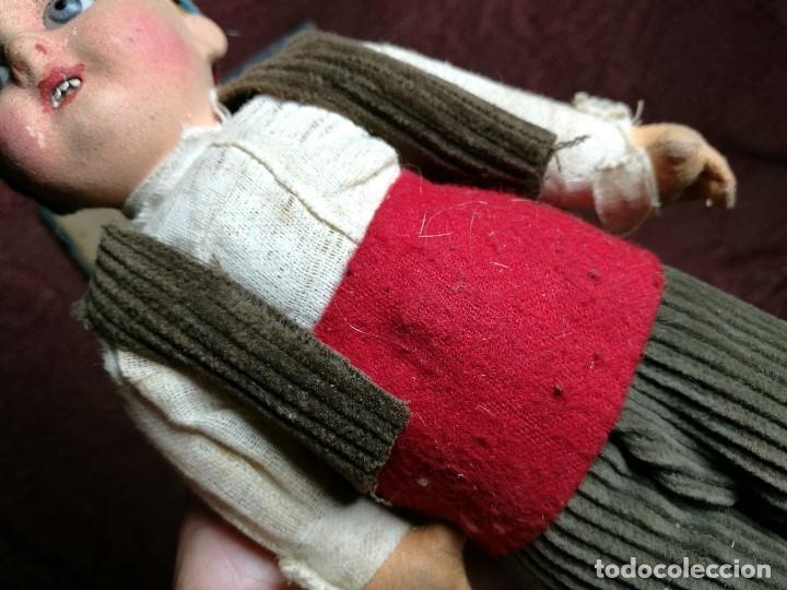 Muñeca española clasica: Pareja de catalanes..muñeco y muñeca de trapo. Pages, Lenci, Lency c. 1920-40 cataluña -ojos cristal - Foto 27 - 160702362