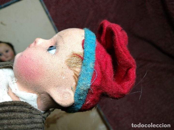 Muñeca española clasica: Pareja de catalanes..muñeco y muñeca de trapo. Pages, Lenci, Lency c. 1920-40 cataluña -ojos cristal - Foto 36 - 160702362