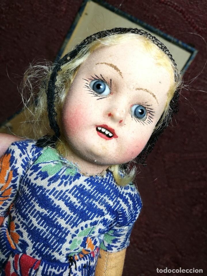 Muñeca española clasica: Pareja de catalanes..muñeco y muñeca de trapo. Pages, Lenci, Lency c. 1920-40 cataluña -ojos cristal - Foto 40 - 160702362