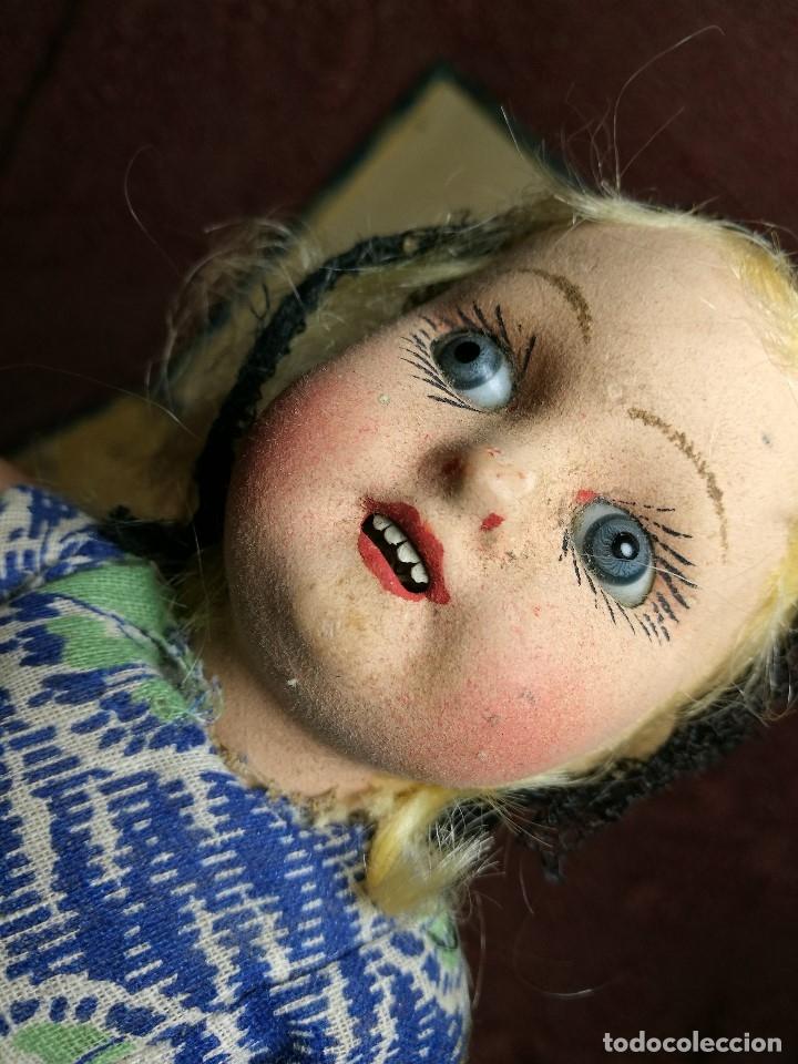 Muñeca española clasica: Pareja de catalanes..muñeco y muñeca de trapo. Pages, Lenci, Lency c. 1920-40 cataluña -ojos cristal - Foto 41 - 160702362