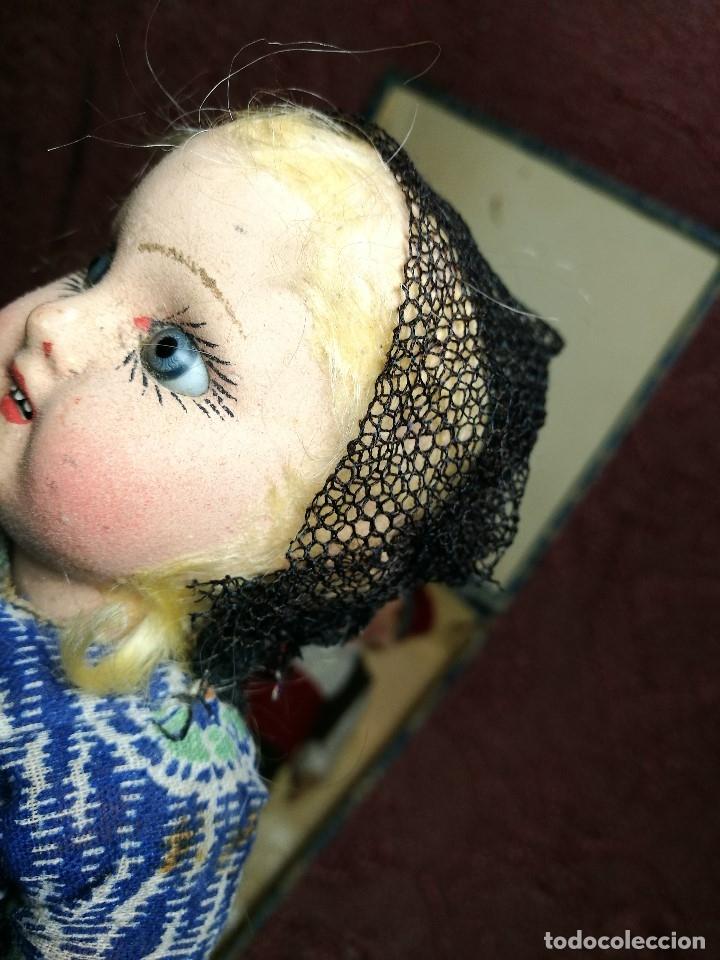 Muñeca española clasica: Pareja de catalanes..muñeco y muñeca de trapo. Pages, Lenci, Lency c. 1920-40 cataluña -ojos cristal - Foto 43 - 160702362