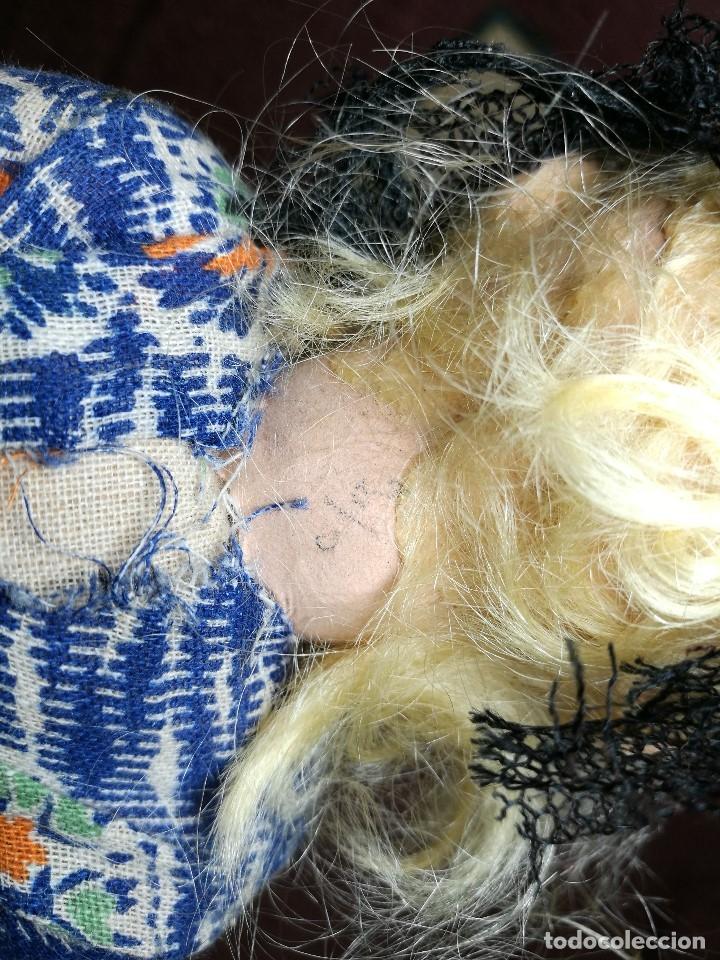Muñeca española clasica: Pareja de catalanes..muñeco y muñeca de trapo. Pages, Lenci, Lency c. 1920-40 cataluña -ojos cristal - Foto 55 - 160702362