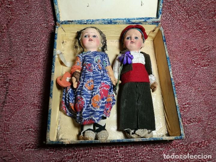 Muñeca española clasica: Pareja de catalanes..muñeco y muñeca de trapo. Pages, Lenci, Lency c. 1920-40 cataluña -ojos cristal - Foto 59 - 160702362
