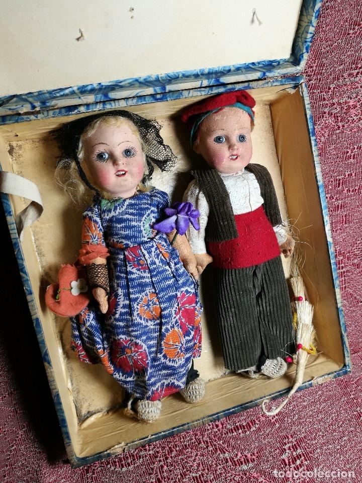 Muñeca española clasica: Pareja de catalanes..muñeco y muñeca de trapo. Pages, Lenci, Lency c. 1920-40 cataluña -ojos cristal - Foto 63 - 160702362