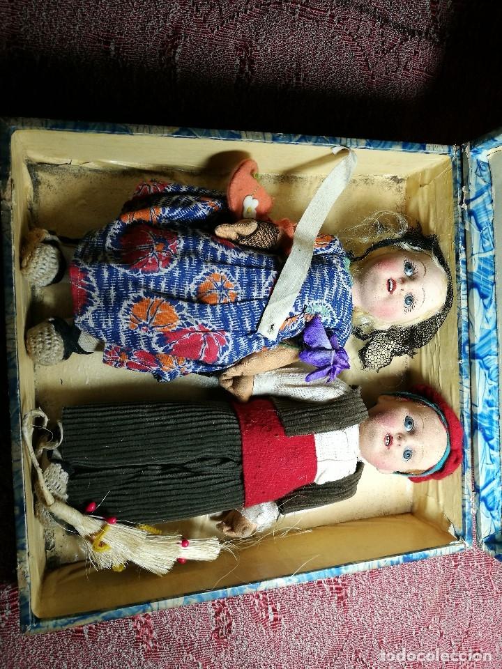 Muñeca española clasica: Pareja de catalanes..muñeco y muñeca de trapo. Pages, Lenci, Lency c. 1920-40 cataluña -ojos cristal - Foto 65 - 160702362