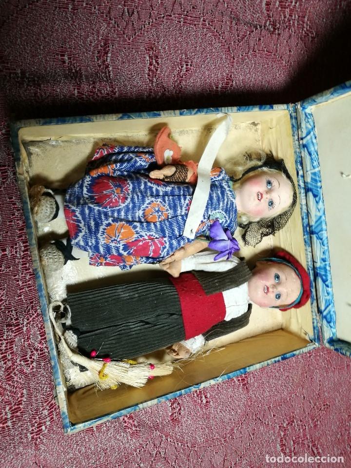 Muñeca española clasica: Pareja de catalanes..muñeco y muñeca de trapo. Pages, Lenci, Lency c. 1920-40 cataluña -ojos cristal - Foto 66 - 160702362