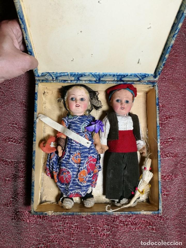 Muñeca española clasica: Pareja de catalanes..muñeco y muñeca de trapo. Pages, Lenci, Lency c. 1920-40 cataluña -ojos cristal - Foto 67 - 160702362