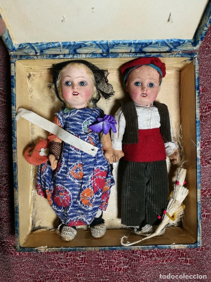 Muñeca española clasica: Pareja de catalanes..muñeco y muñeca de trapo. Pages, Lenci, Lency c. 1920-40 cataluña -ojos cristal - Foto 68 - 160702362