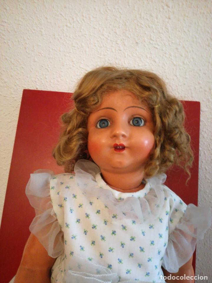 Muñeca española clasica: MUÑECA ESPAÑOLA AÑOS 40-50 EN CARTON PIEDRA. - Foto 2 - 161621462