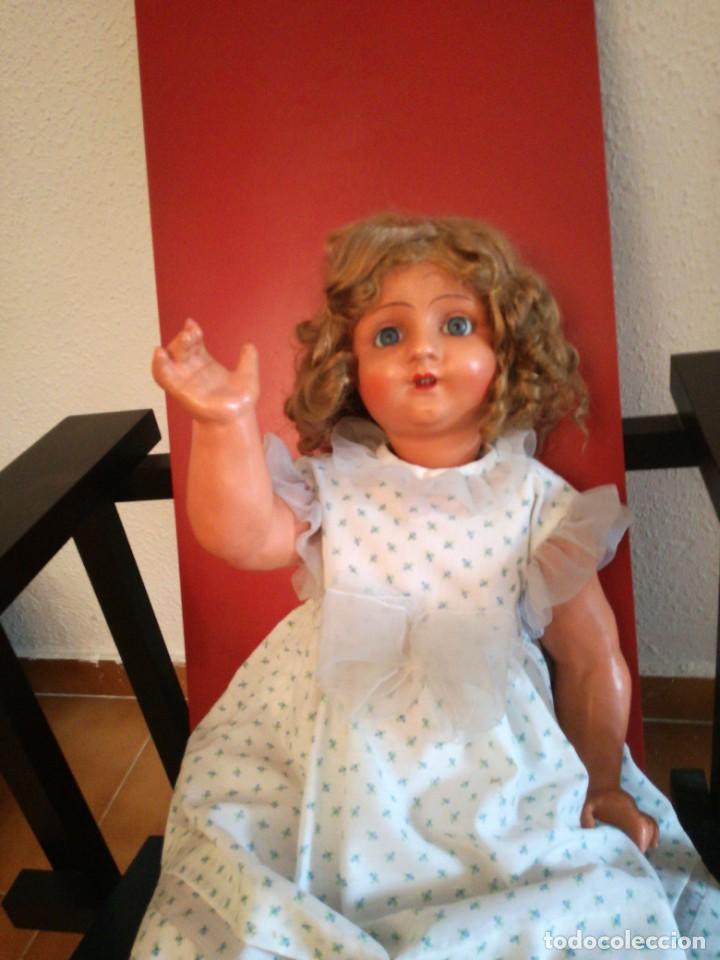 Muñeca española clasica: MUÑECA ESPAÑOLA AÑOS 40-50 EN CARTON PIEDRA. - Foto 4 - 161621462