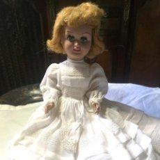 Muñeca española clasica: MUÑECA. CARTÓN PIEDRA. OJOS DURMIENTES. POSIBLEMENTE ESPAÑA. AÑOS 40. Lote 162570650