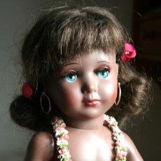 Muñeca española clasica: LINDA NEGRITA DE MUÑECAS ALBA MADRID AÑOS 50 TODA DE ORIGEN. Lote 162914066
