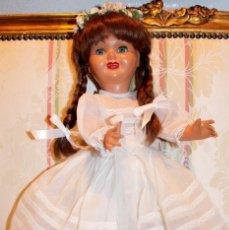 Muñeca española clasica: ANTIGUA MUÑECA ESPAÑOLA CARTÓN PIEDRA, VESTIDO COMUNIÓN- DOLL, POUPÉE. Lote 163578210