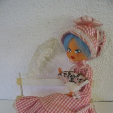 Muñeca española clasica: PRECIOSA MUÑECA ROMÁNTICA LAYNA 1960. Lote 164322958