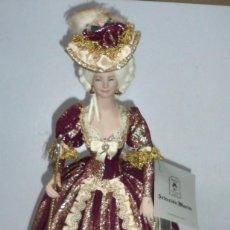 Muñeca española clasica: MUÑECAS MARIN, CHICLANA. MARIA ANTONIETA DE AUSTRIA. CON PEANA DE MADERA. 48CM ALTO. VER DETALLES. Lote 164430906